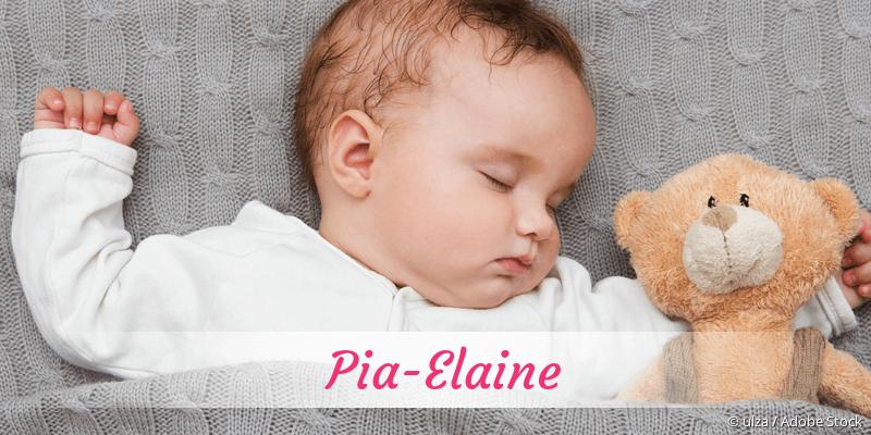 Name Pia-Elaine als Bild