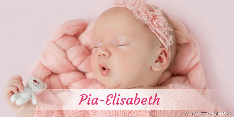 Name Pia-Elisabeth als Bild