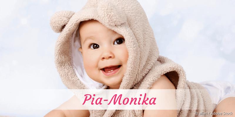 Name Pia-Monika als Bild
