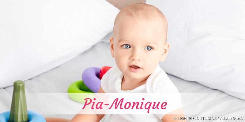 Name Pia-Monique als Bild