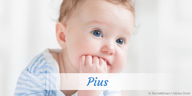 Name Pius als Bild