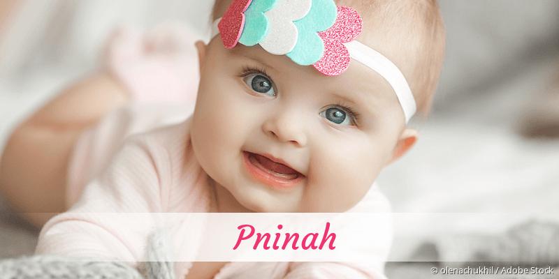 Name Pninah als Bild