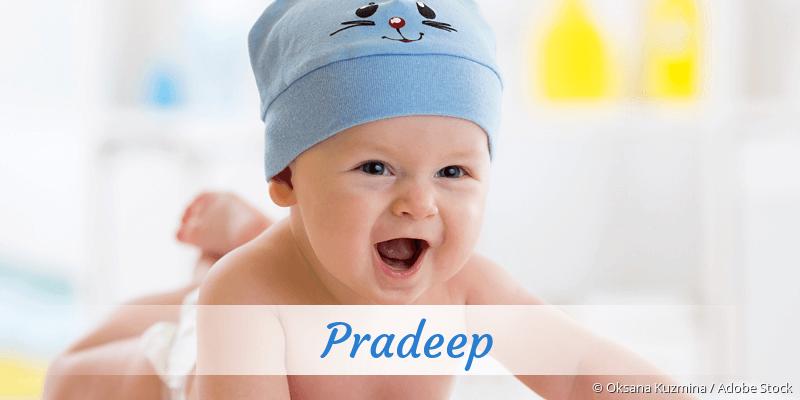 Name Pradeep als Bild