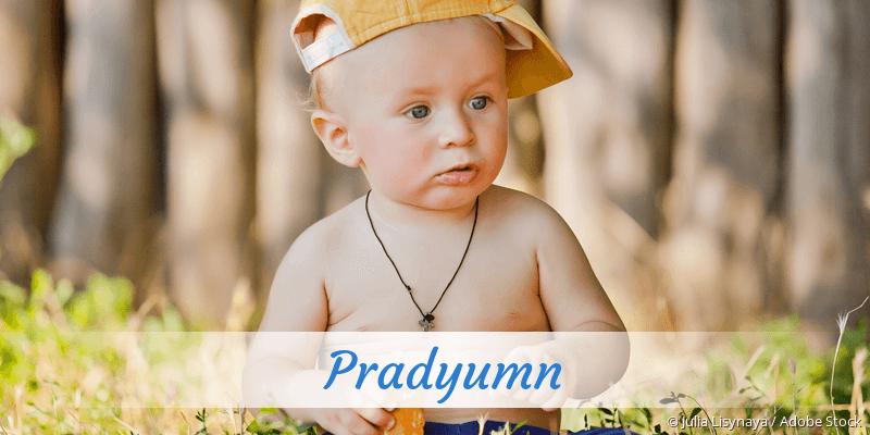 Name Pradyumn als Bild