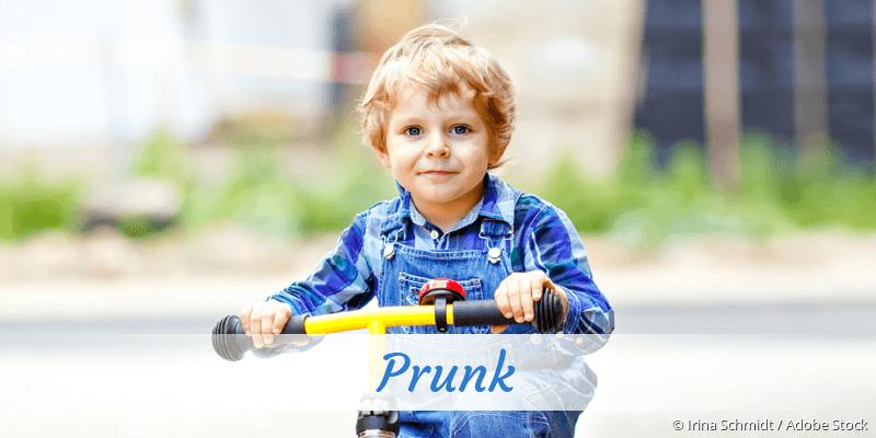 Name Prunk als Bild