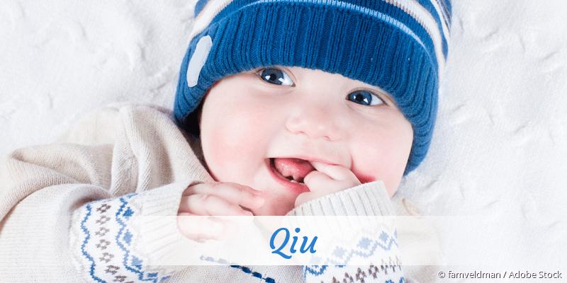 Name Qiu als Bild