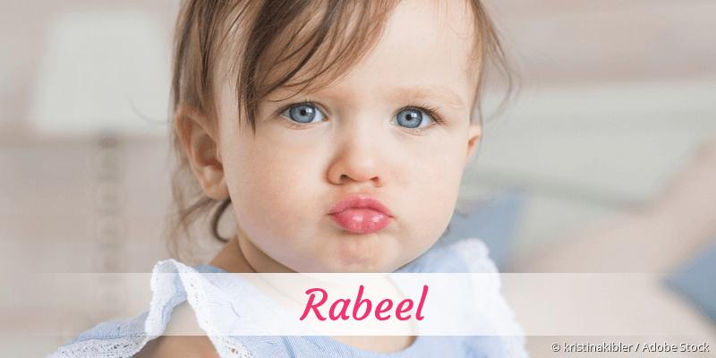 Name Rabeel als Bild