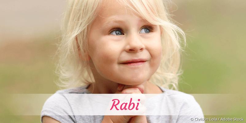 Name Rabi als Bild