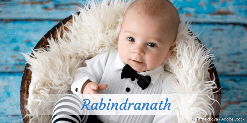 Name Rabindranath als Bild
