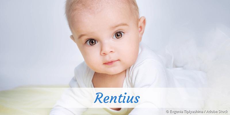 Name Rentius als Bild
