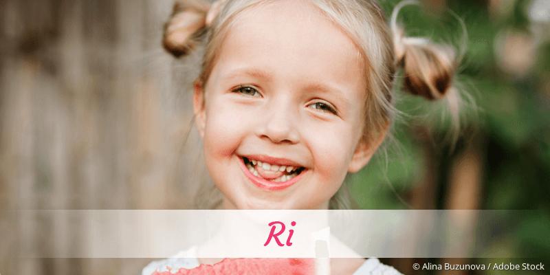 Name Ri als Bild