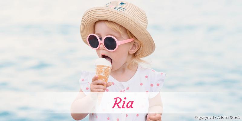 Name Ria als Bild