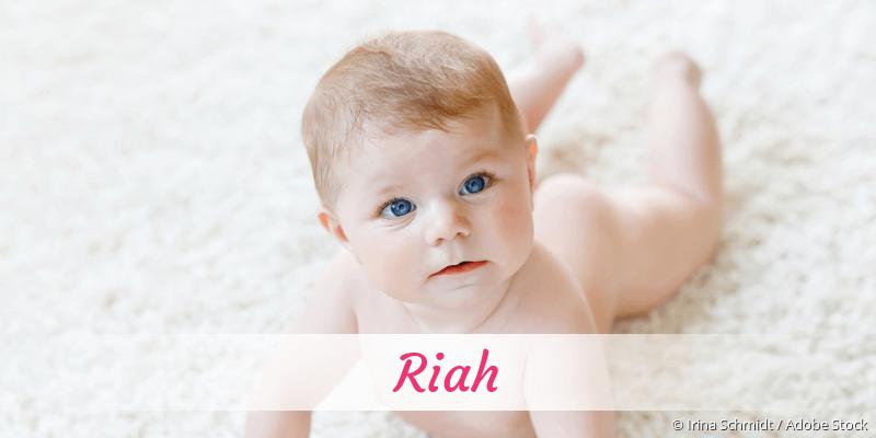 Name Riah als Bild