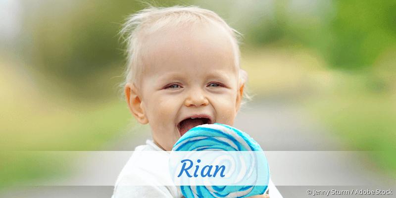 Name Rian als Bild