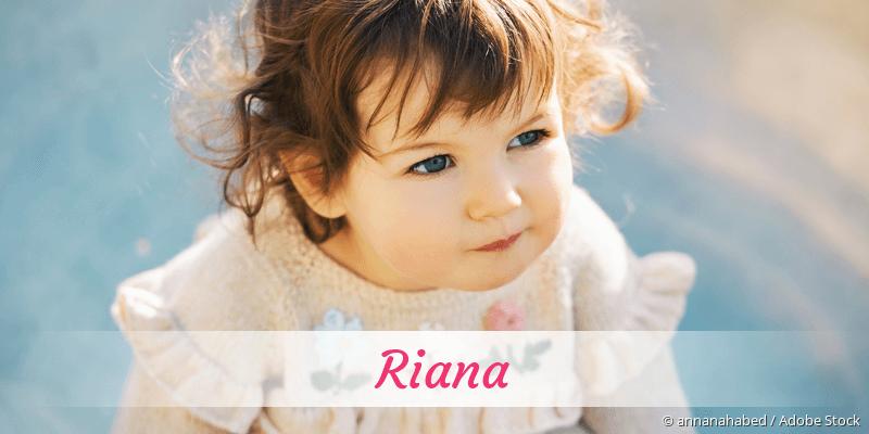 Name Riana als Bild