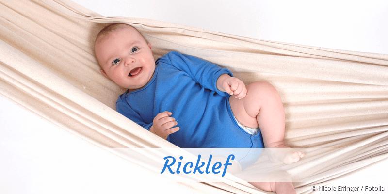 Name Ricklef als Bild