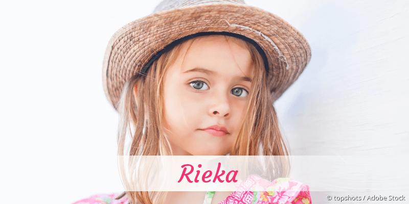 Name Rieka als Bild