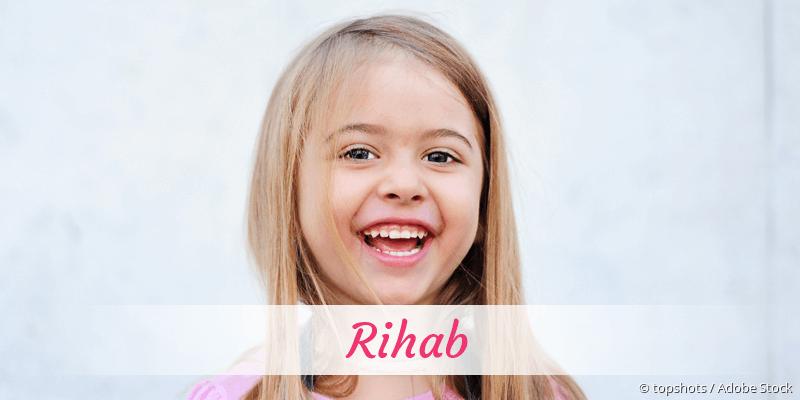 Name Rihab als Bild