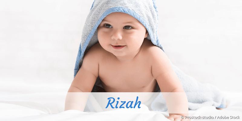 Name Rizah als Bild