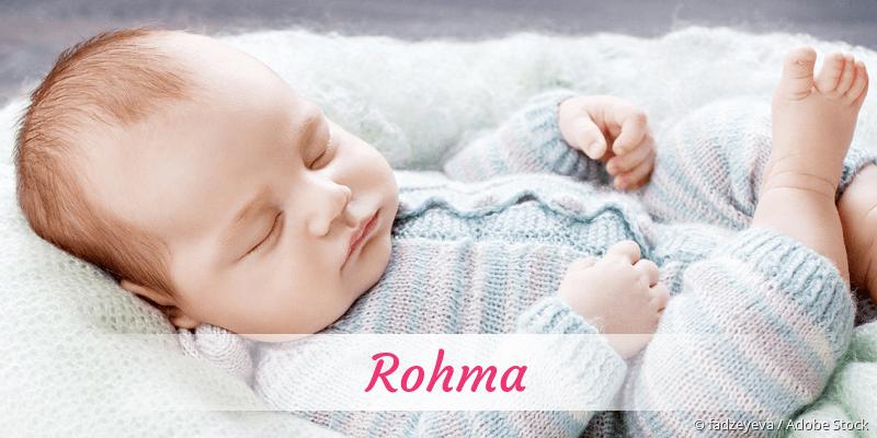 Name Rohma als Bild