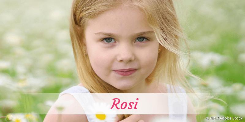 Name Rosi als Bild