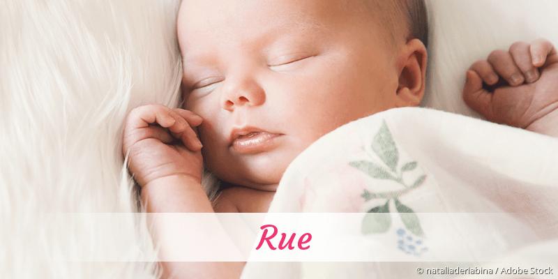 Name Rue als Bild