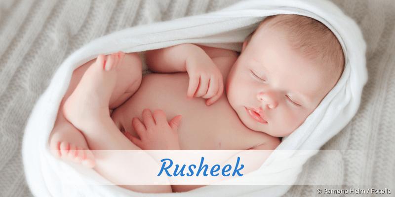 Name Rusheek als Bild