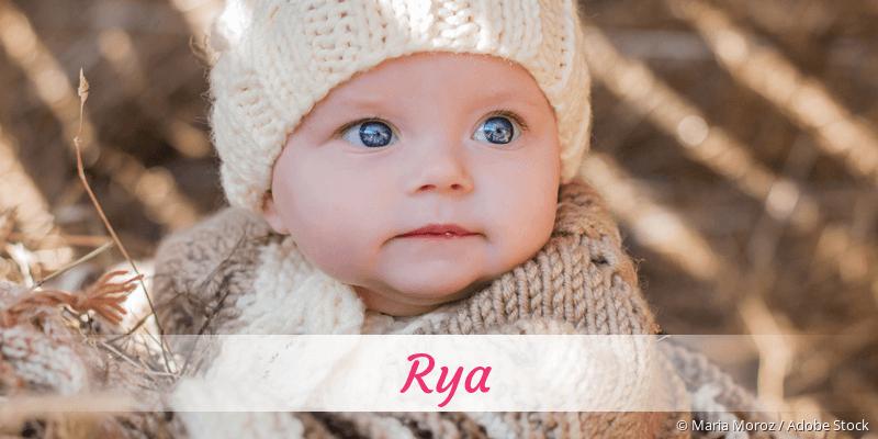 Name Rya als Bild