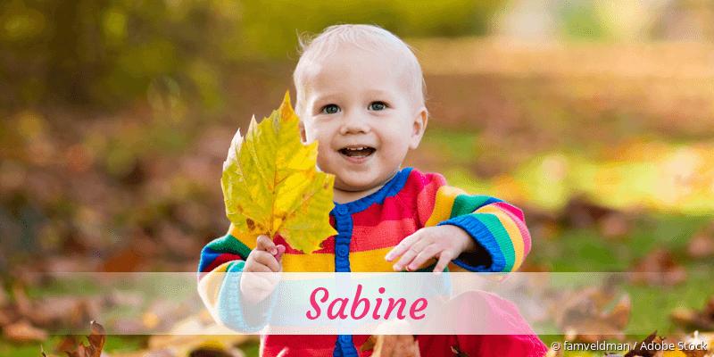 Name Sabine als Bild
