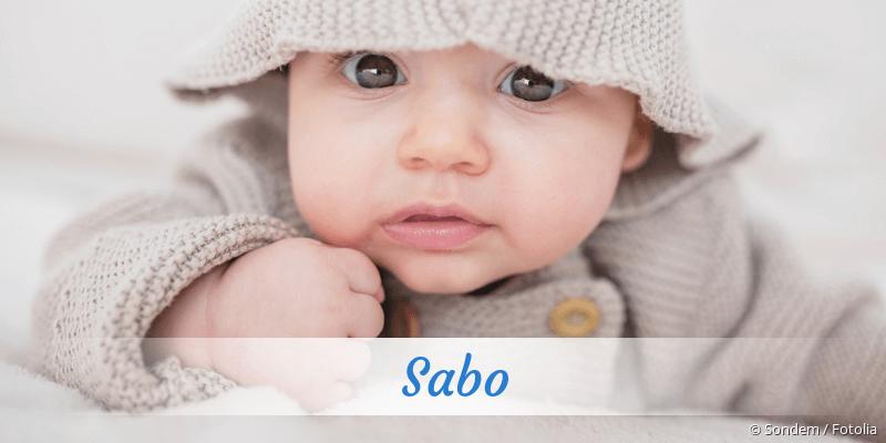 Name Sabo als Bild