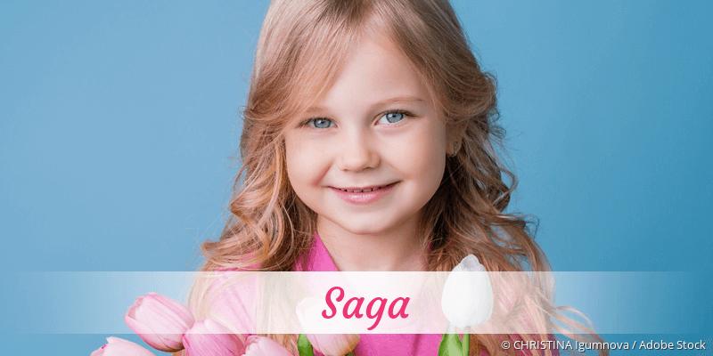 Name Saga als Bild