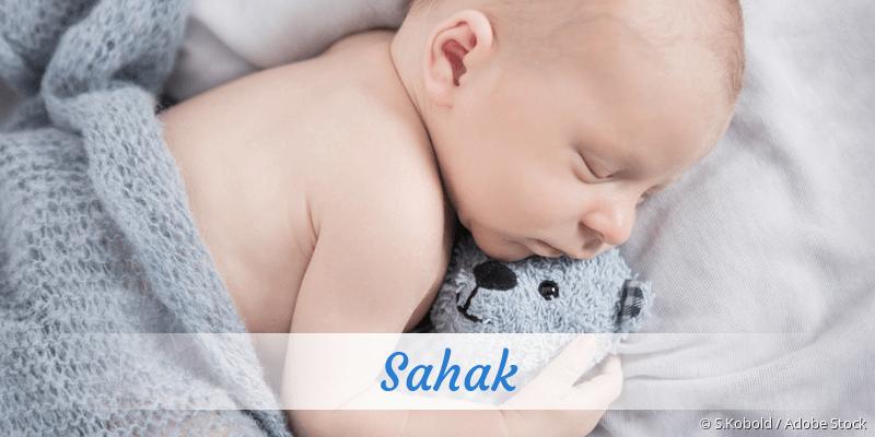 Name Sahak als Bild