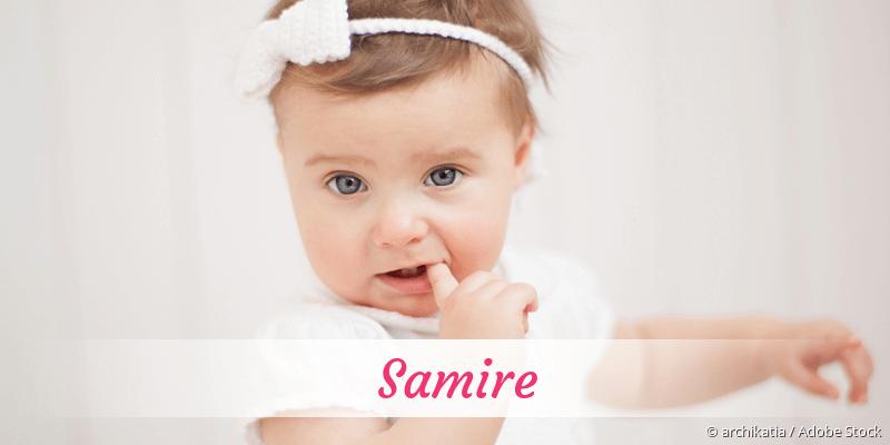 Name Samire als Bild