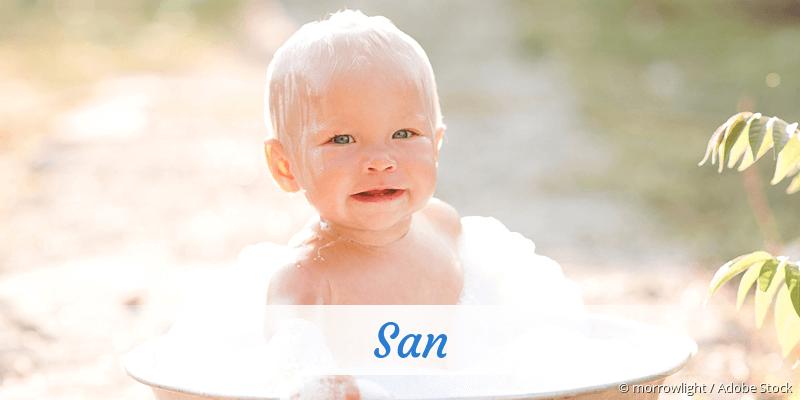 Name San als Bild