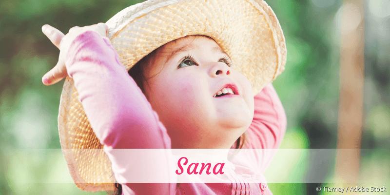 Name Sana als Bild