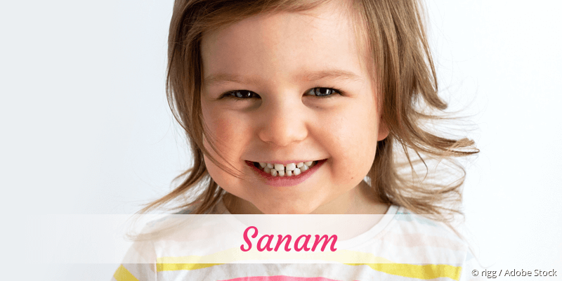 Name Sanam als Bild