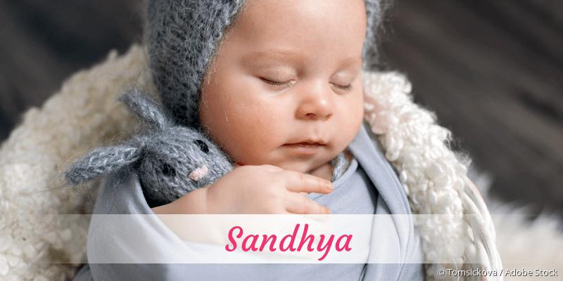 Name Sandhya als Bild