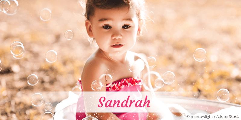 Name Sandrah als Bild