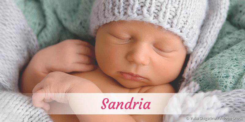 Name Sandria als Bild