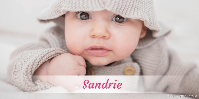 Name Sandrie als Bild