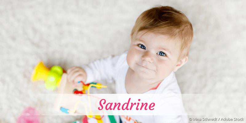 Name Sandrine als Bild
