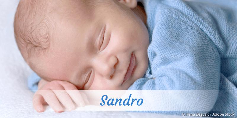 Name Sandro als Bild