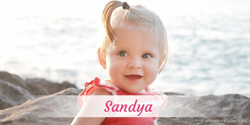 Name Sandya als Bild