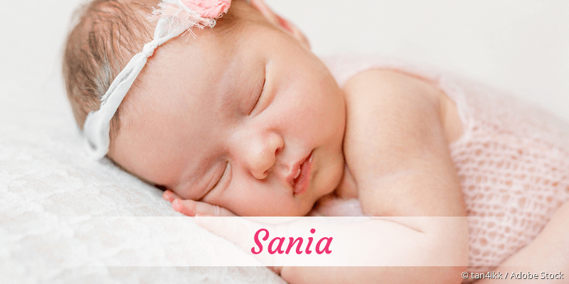 Name Sania als Bild