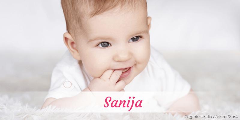 Name Sanija als Bild