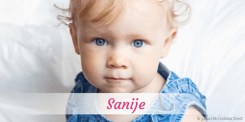 Name Sanije als Bild