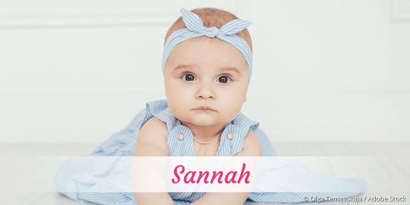 Name Sannah als Bild