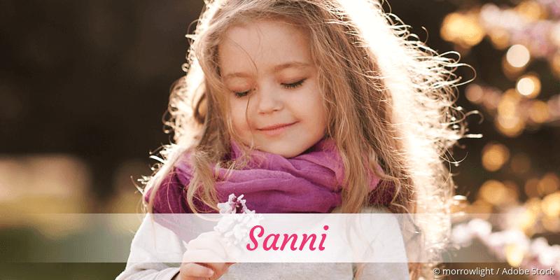 Name Sanni als Bild