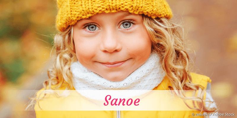 Name Sanoe als Bild