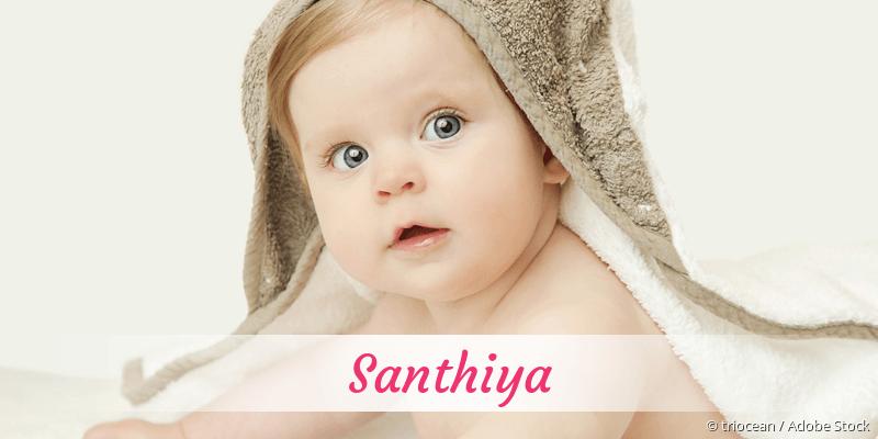Name Santhiya als Bild